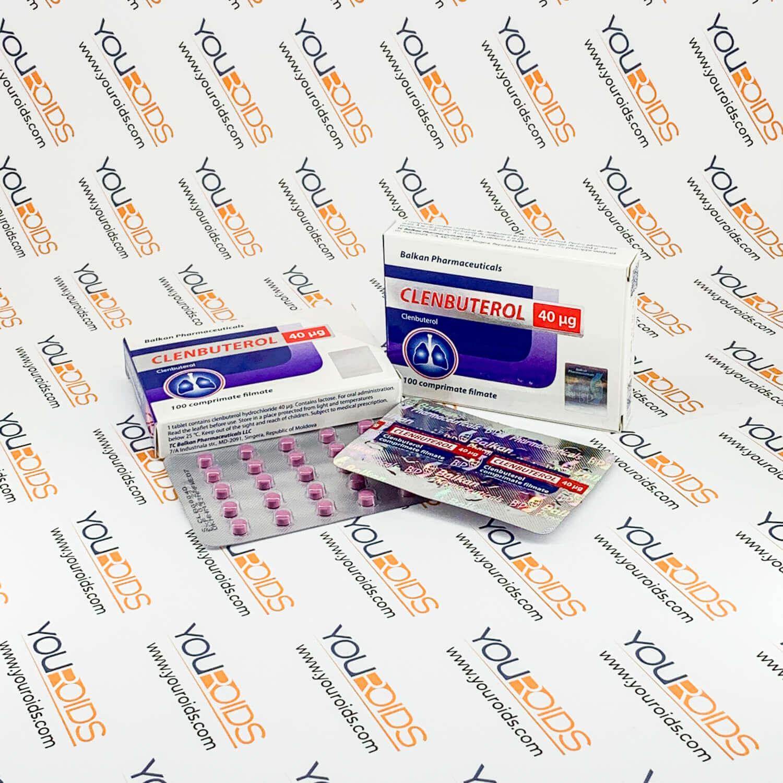 Clenbuterol 40mg pills Balkan Pharmaceuticals 2