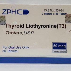 Thyroid Liothyronine 50mcg T3 ZPHC USA domestic