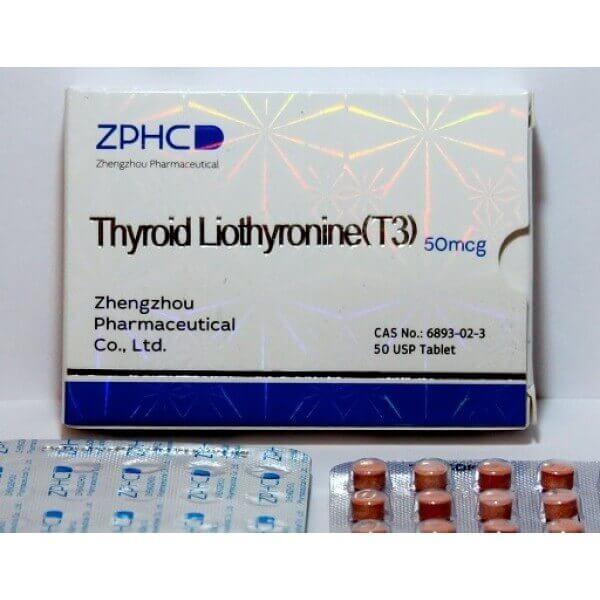Thyroid Liothyronine T3 50mcg pills ZPHC